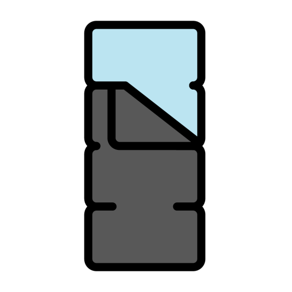 icon of person in sleeping bag