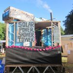 Campsite Solar Power Shower Tower