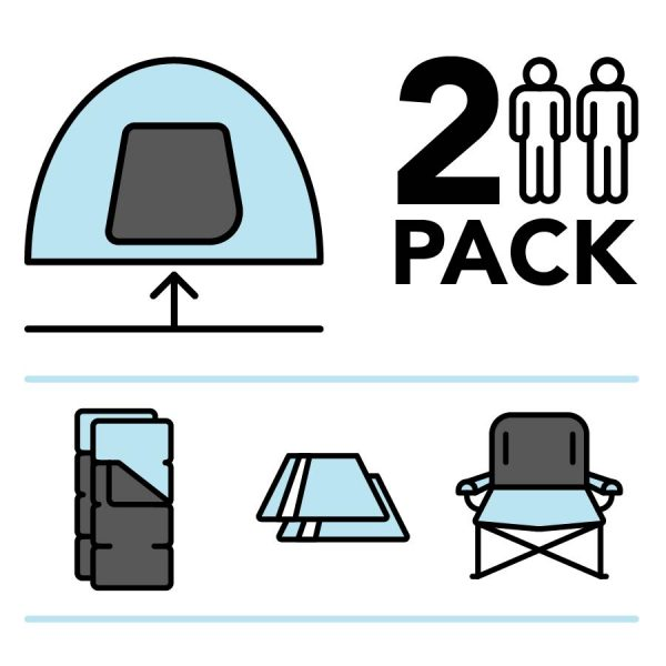 Camplight pre-pitched package for two thumbnail