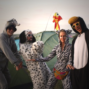 glastonbury festival crew fancy dress