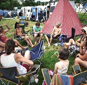 Glastonbury camplight crew