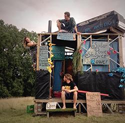 solar festival shower crew
