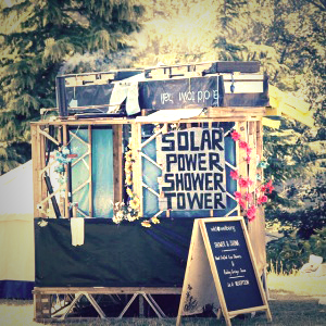 festival solar shower