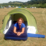 pre pitched tent world yoga 2017