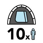 big 10 person tent icon
