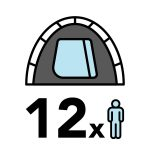 big 12 person tent icon