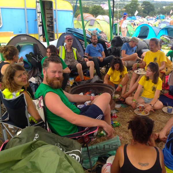 Campsite at Glastonbury Festival