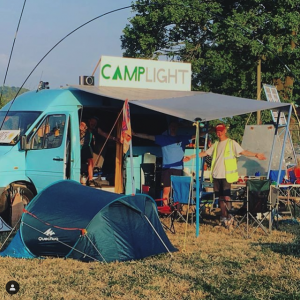 Campsite at Nozstock Festival
